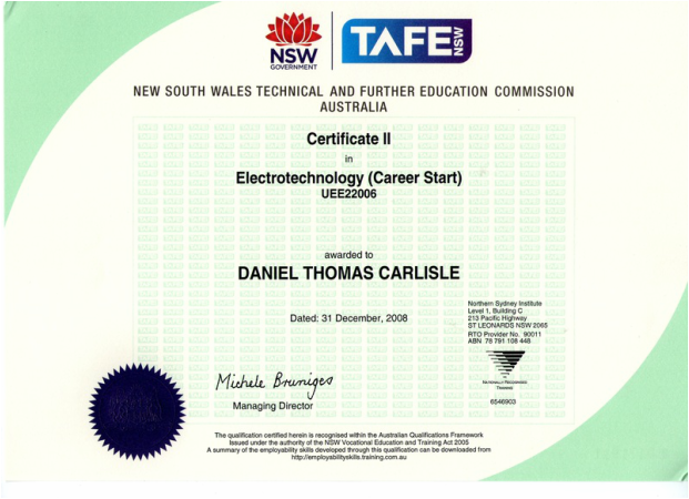 Qualifications Earth Electrical